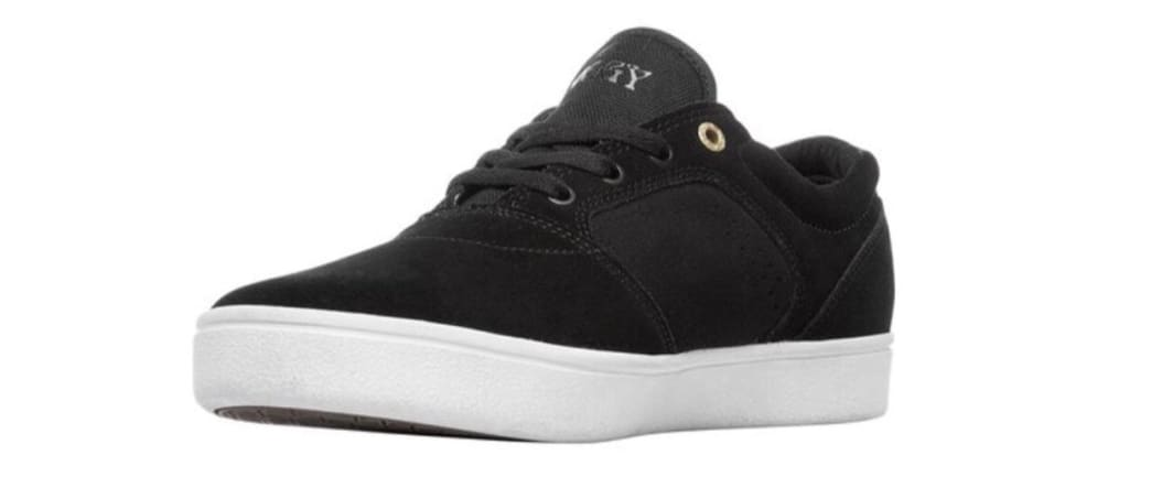 Emerica Figgy Dose Skate Shoes - Black / White / Gold | Shoes by Emerica 4