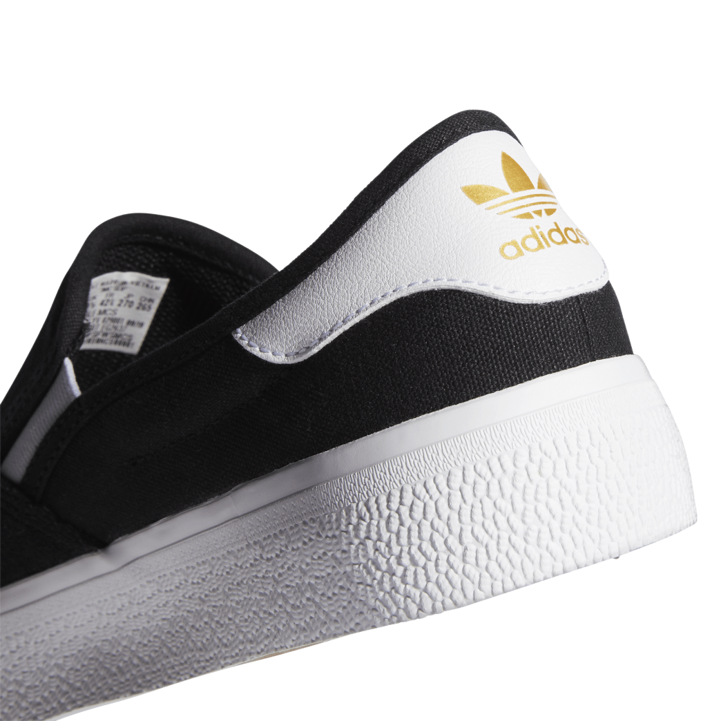 adidas 3MC Slip-On Skate Shoes - Core Black / FTWR White / Gold Met   Shoes by adidas Skateboarding 8