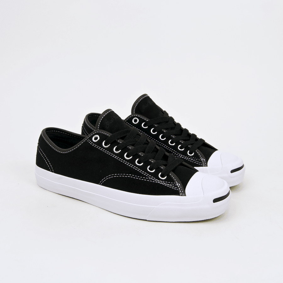 Converse Cons - Jack Purcell Pro OX (Suede) Shoes - Black / Black / White | Shoes by Converse Cons 1