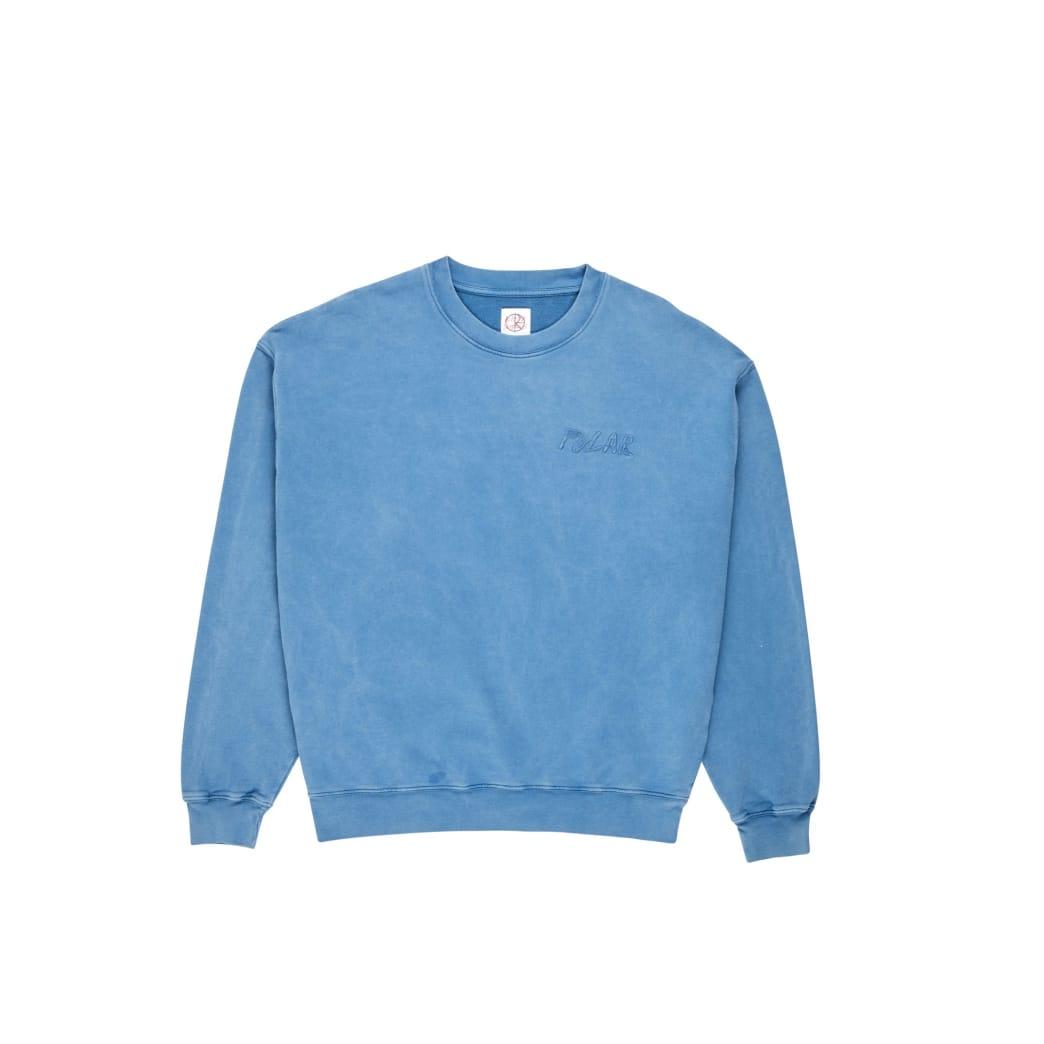 Polar Skate Co Garment Dye Crewneck - Blue | Sweatshirt by Polar Skate Co 1