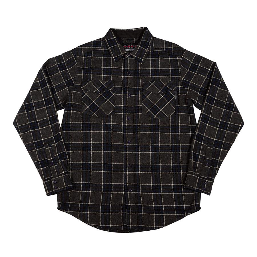 Independent - Hatchet Long Sleeve Flannel (Grey/Black/Charcoal) | Shirt by Independent Trucks 1