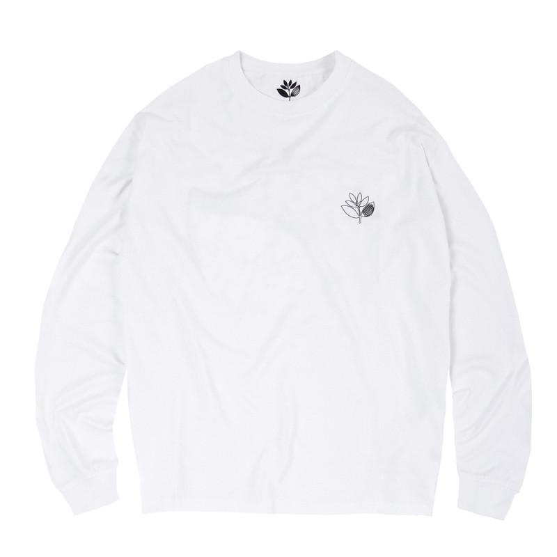 Magenta Skateboards Outline Long Sleeve T-Shirt - White | Longsleeve by Magenta Skateboards 2