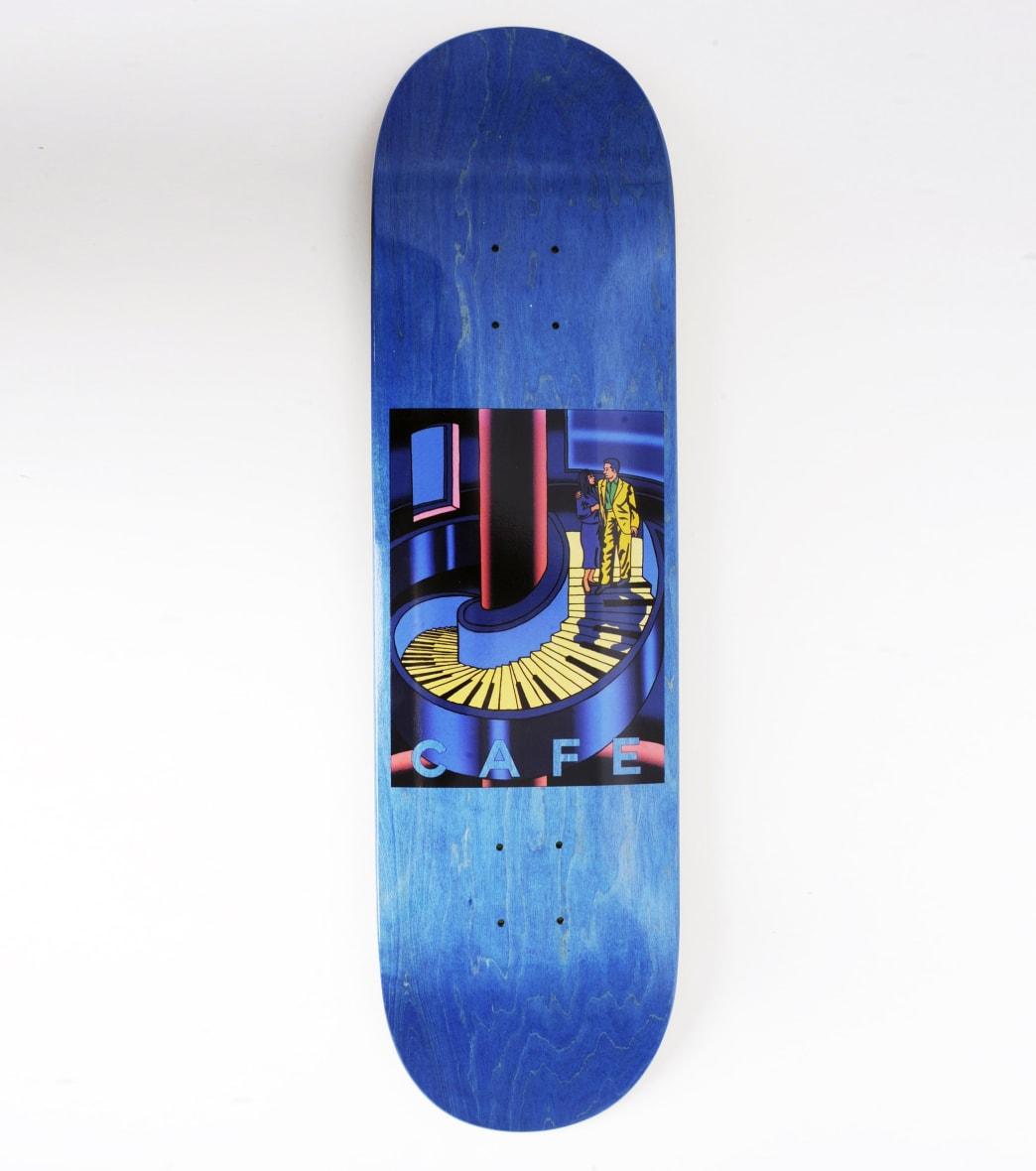 "Skateboard Cafe Piano Staircase Skateboard Deck Blue Woodstain - 8.375""   Deck by Skateboard Cafe 1"