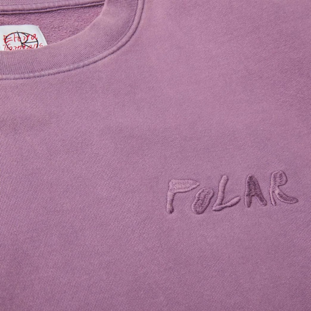 Polar Skate Co Garment Dye Crewneck - Purple | Sweatshirt by Polar Skate Co 3