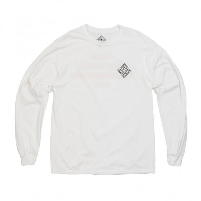 The National Skateboard Co. Redacted Long Sleeve T-Shirt - White / Red | Longsleeve by The National Skateboard Co. 2