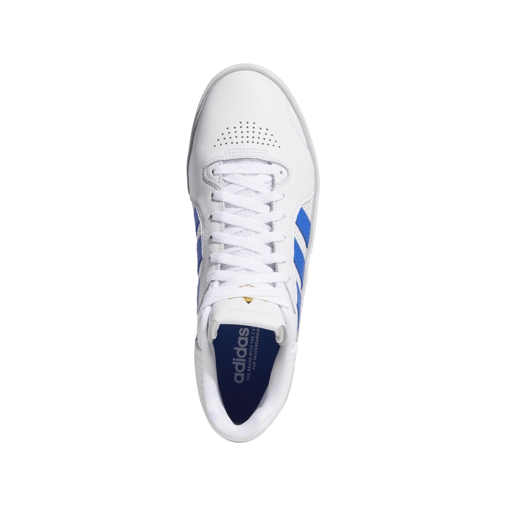 adidas Tyshawn Jones Skate Shoes - Cloud White / Blue / Gold Metallic | Shoes by adidas Skateboarding 2