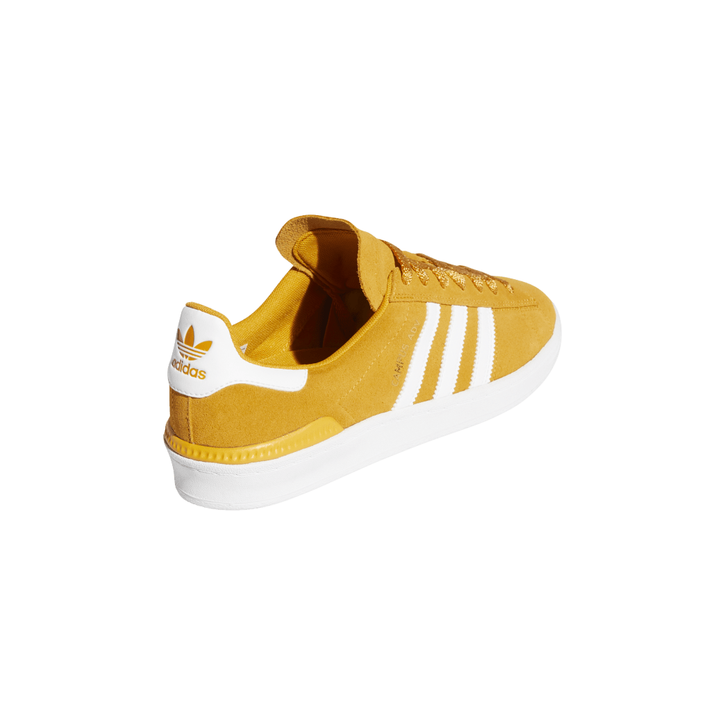adidas Campus ADV Skate Shoes - Tactile Yellow / Cloud White / Gold Metallic | Shoes by adidas Skateboarding 6
