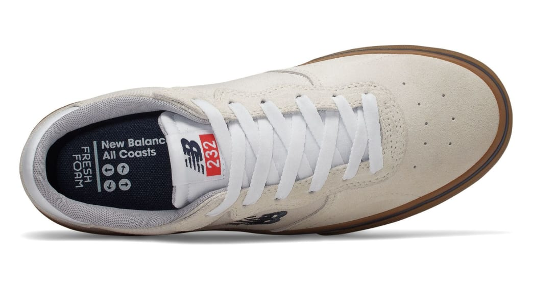 New Balance Numeric All Coasts 232 Skate Shoes - White / Gum | Shoes by New Balance 3