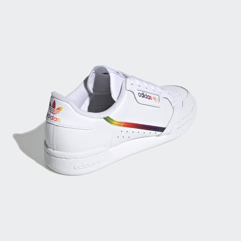 Adidas - Continental 80 - White/Multi   Shoes by adidas Skateboarding 3