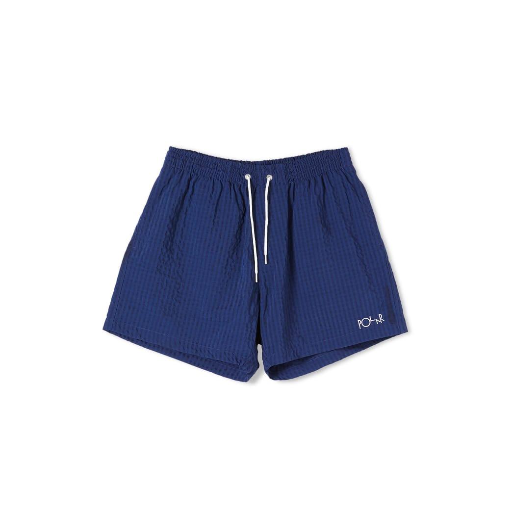 Polar Skate Co Seersucker Swim Shorts - Blue | Shorts by Polar Skate Co 1