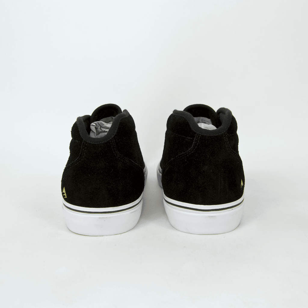 Emerica - Wino G6 Mid Shoes - Black / White / Gold | Shoes by Emerica 5