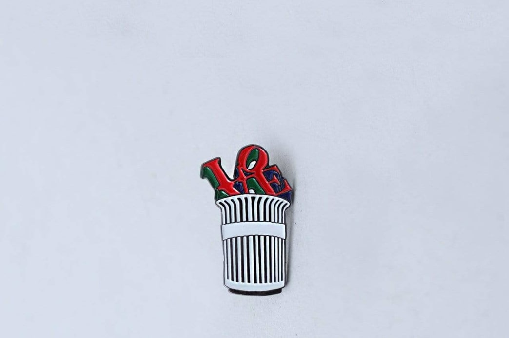 Traffic Parks and Rec Enamel Pin Badge | Pin Badge by Traffic Skateboards 1