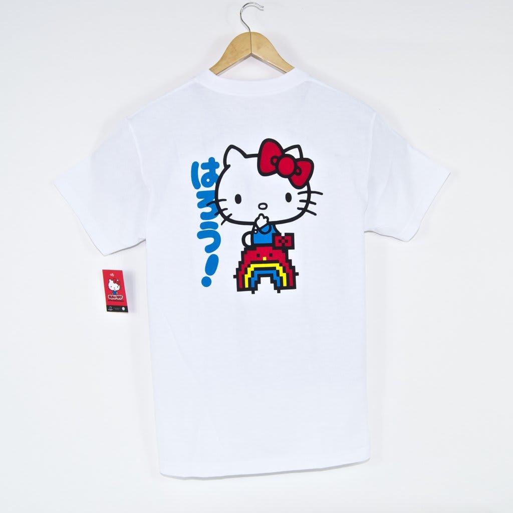Girl Skateboards - Rainbow Hello Kitty T-Shirt - White | T-Shirt by Girl Skateboards 1