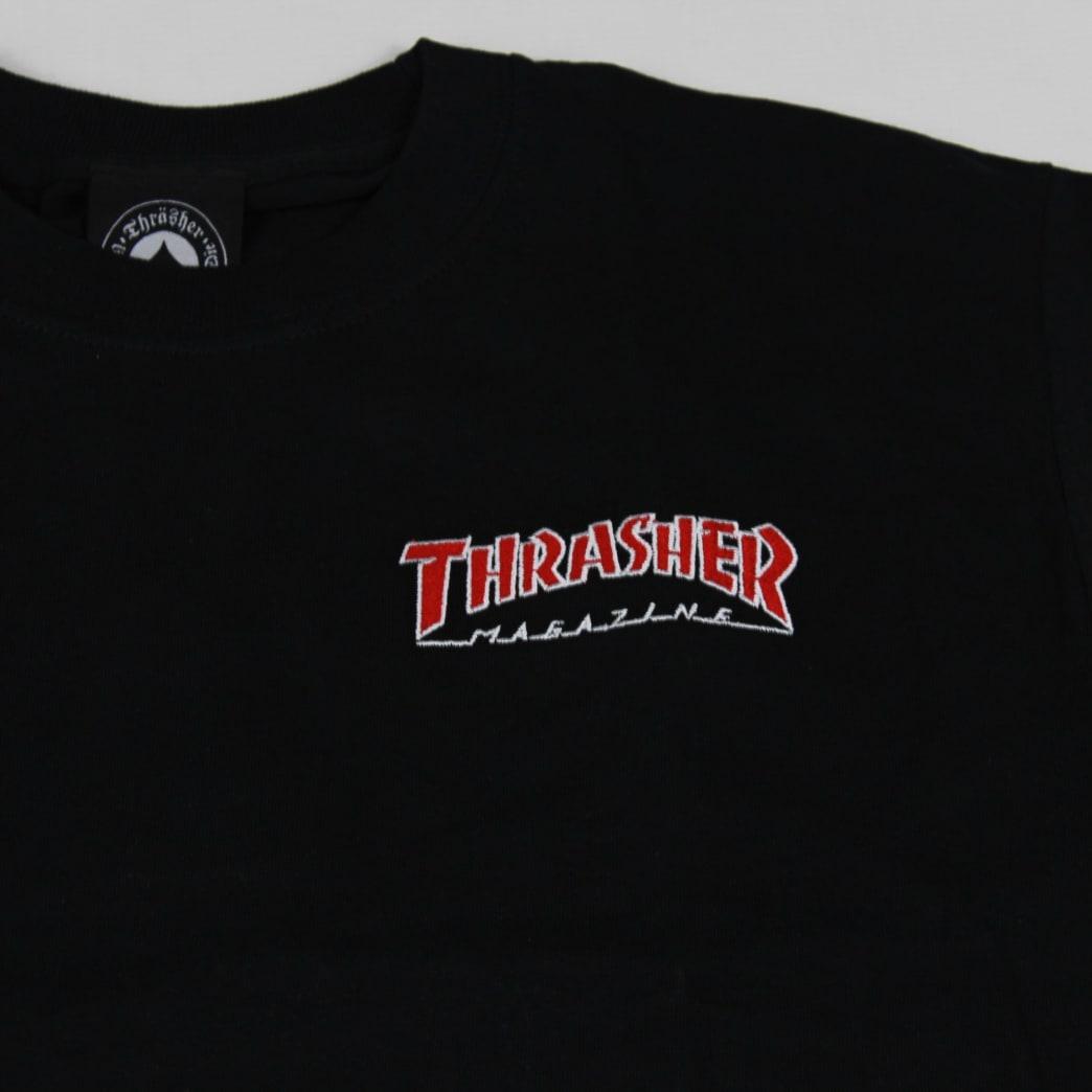 ec17118266bb Thrasher Outline Longsleeve T-Shirt Black | Longsleeve by Thrasher 2