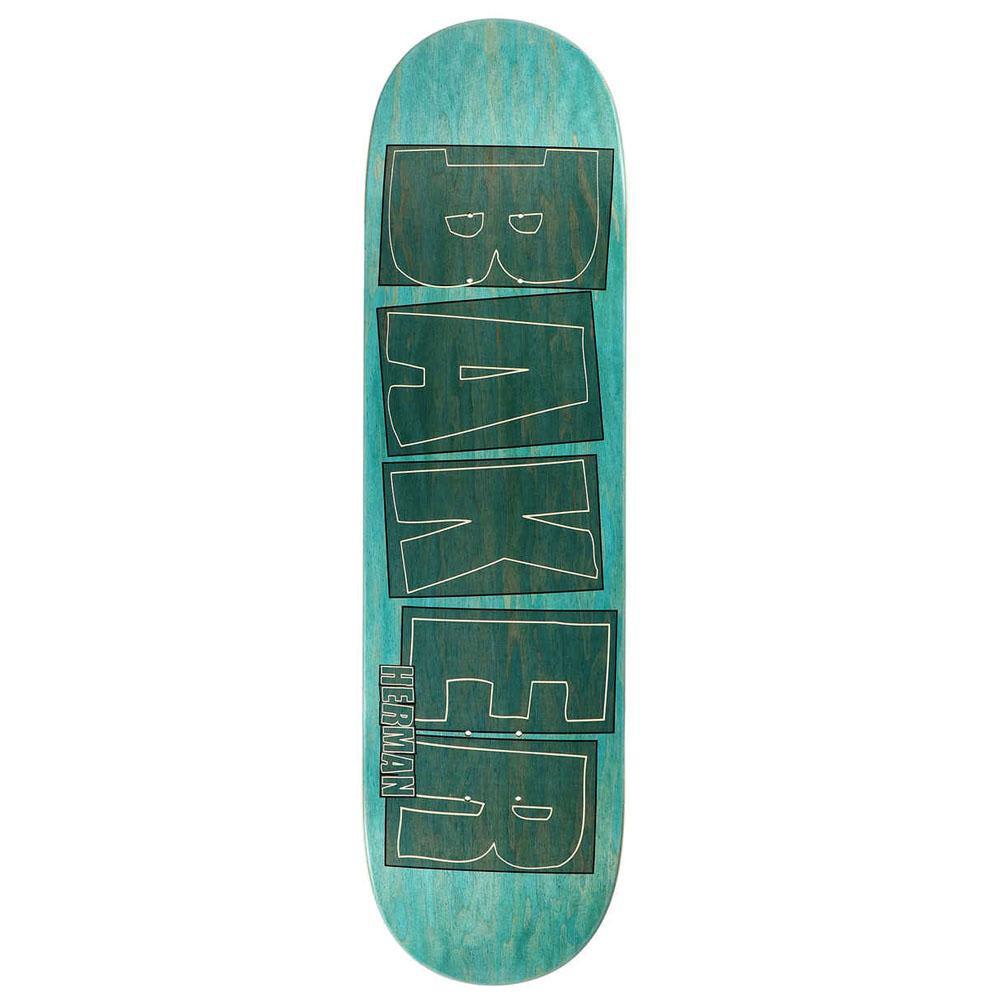 Baker Skateboards Bryan Herman Brand Name Stroke Aqua Skateboard Deck - 8.5 | Deck by Baker Skateboards 1