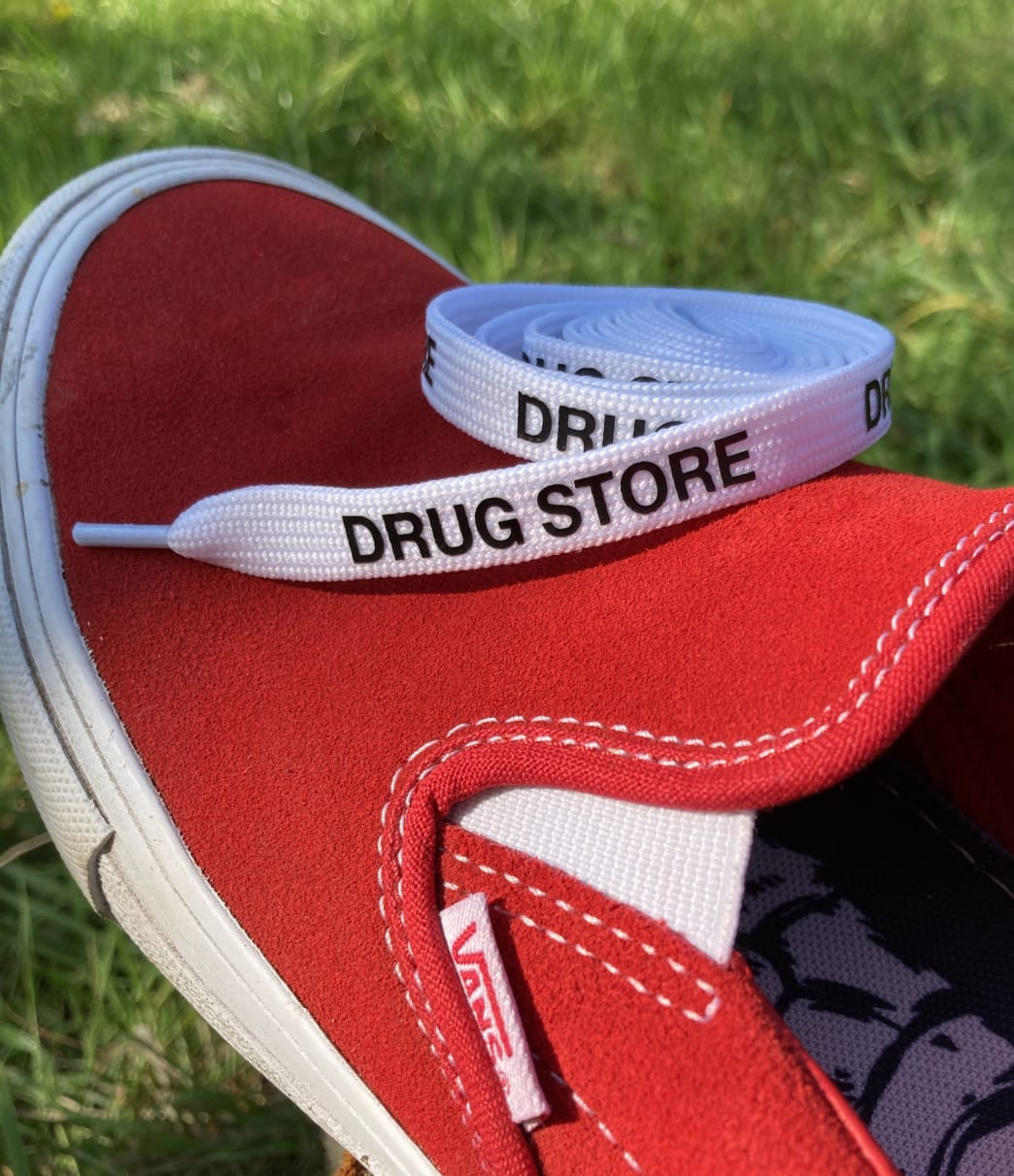 Drug Store Shoe Laces White | Laces by Drug Store 1