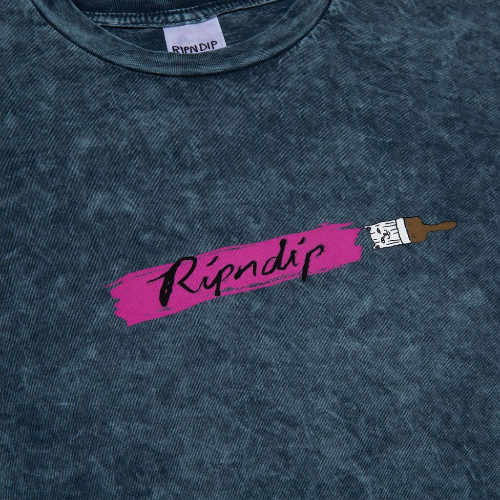Ripndip Beautiful Mountain T-Shirt - Green / Grey Lightning Wash | T-Shirt by Ripndip 3