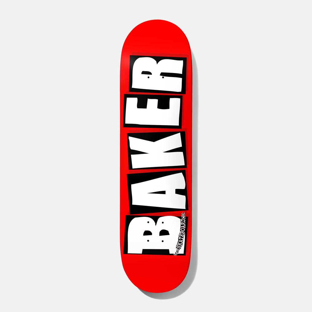 Baker Skateboards Brand Logo White Skateboard Deck - 8"