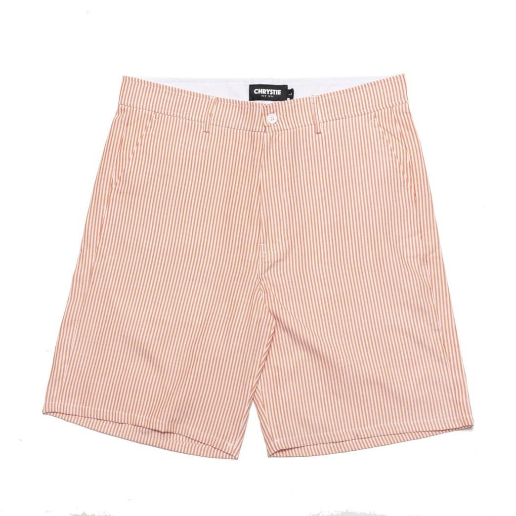 Chrystie NYC Stripe Shorts - Orange | Shorts by Chrystie NYC 1
