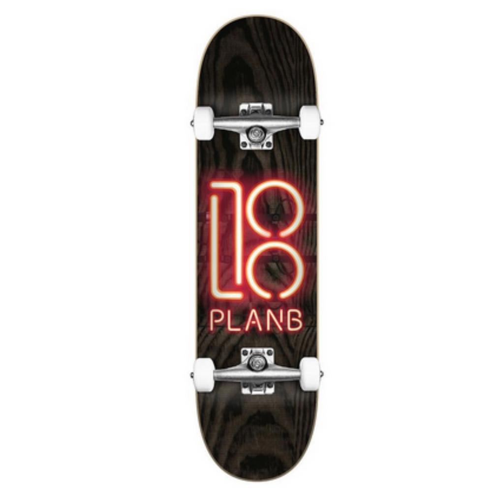 "Plan B Neon Sign Complete Skateboard - 8"" | Complete Skateboard by Plan B 1"