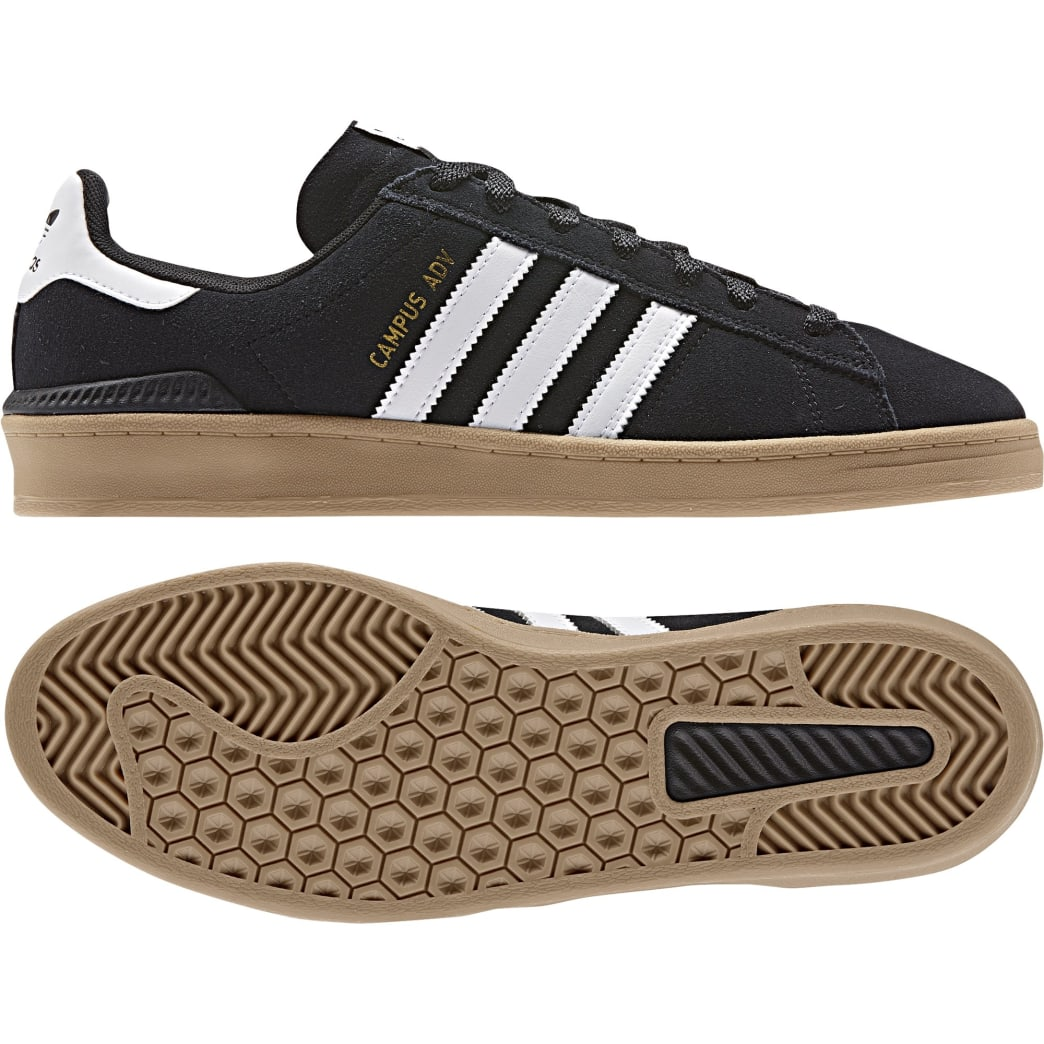 Adidas Campus ADV - Core Black / White / Gum | Shoes by adidas Skateboarding 6