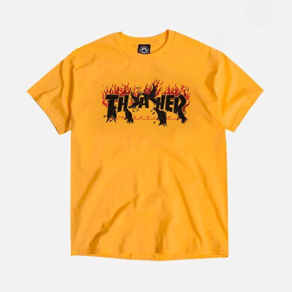 Thrasher Crows Tee Gold | T-Shirt by Thrasher 1