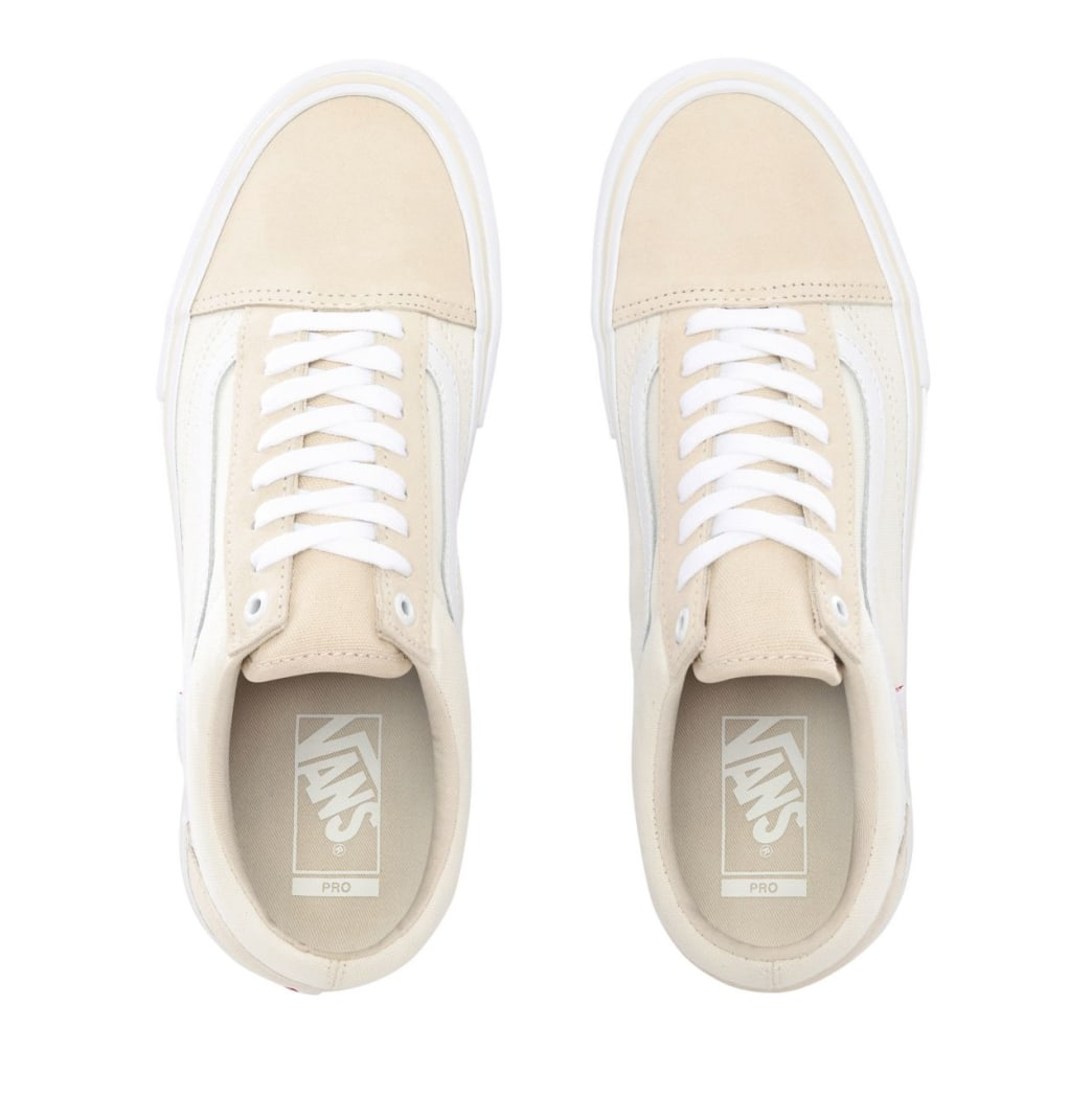 Vans Old Skool Pro Skate Shoes - Marshmallow / White | Shoes by Vans 4