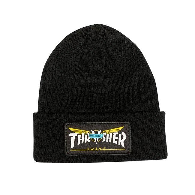 Thrasher - Venture Collab Patch Beanie (Black) | Beanie by Thrasher 1