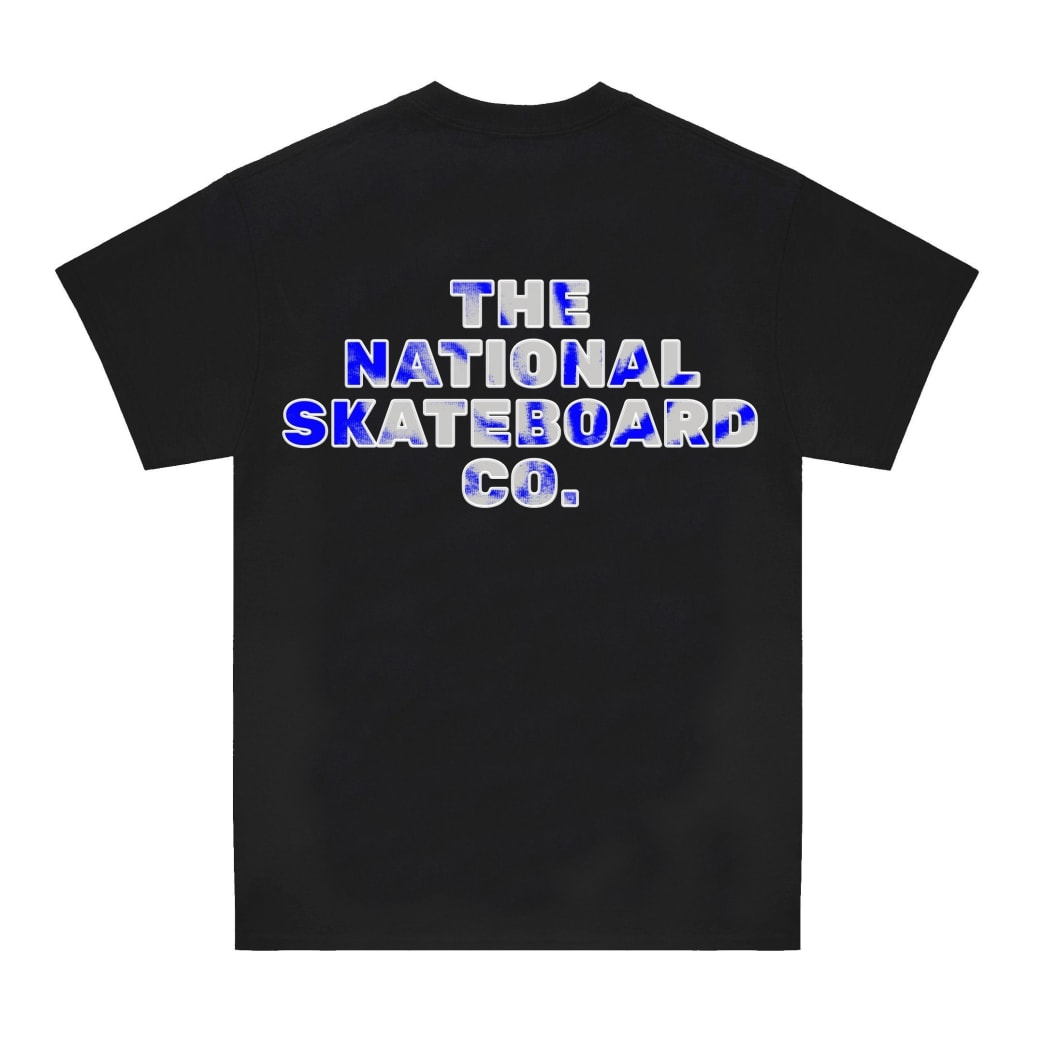 The National Skateboard Co Classic Text T-Shirt - Black | T-Shirt by The National Skateboard Co. 2