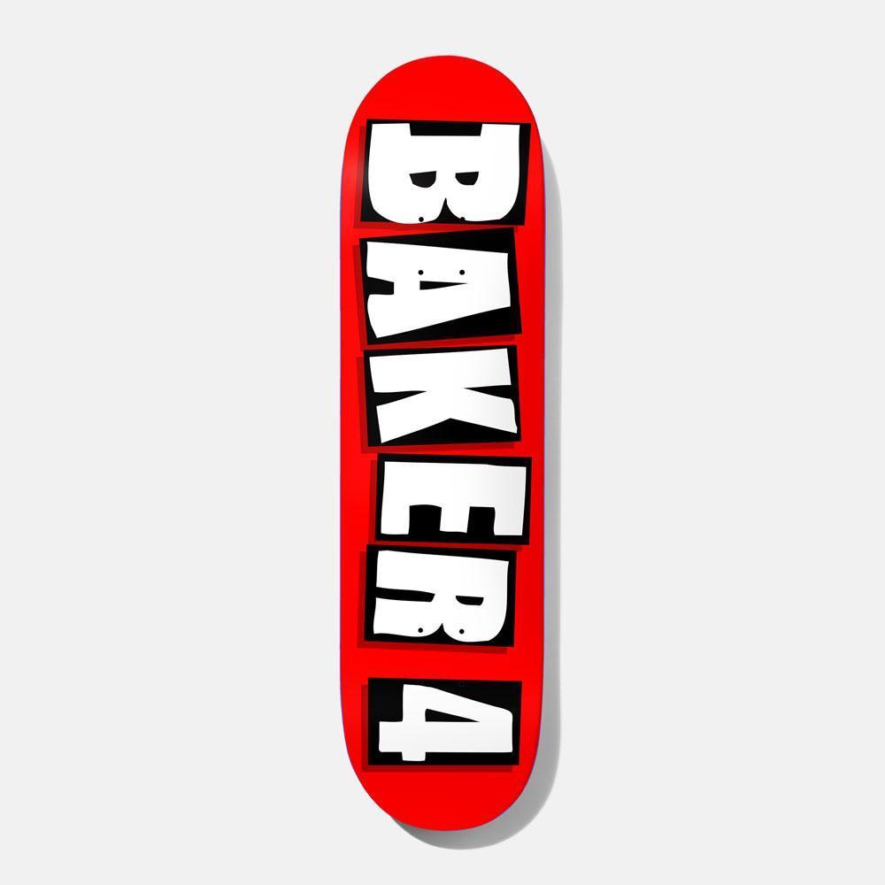"""Baker Skateboards Baker 4 OG Red Skateboard Deck - 8.5""""   Deck by Baker Skateboards 1"""