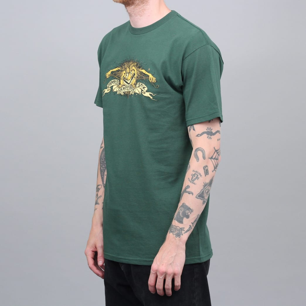 Anti Hero Grimple Stix Eagle T-Shirt Forest Green | T-Shirt by Antihero Skateboards 2
