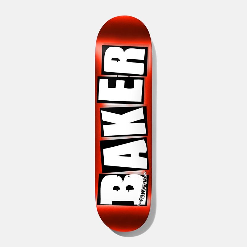 """Baker Skateboards Brand Logo Red Foil Skateboard Deck - 8""""   Deck by Baker Skateboards 1"""