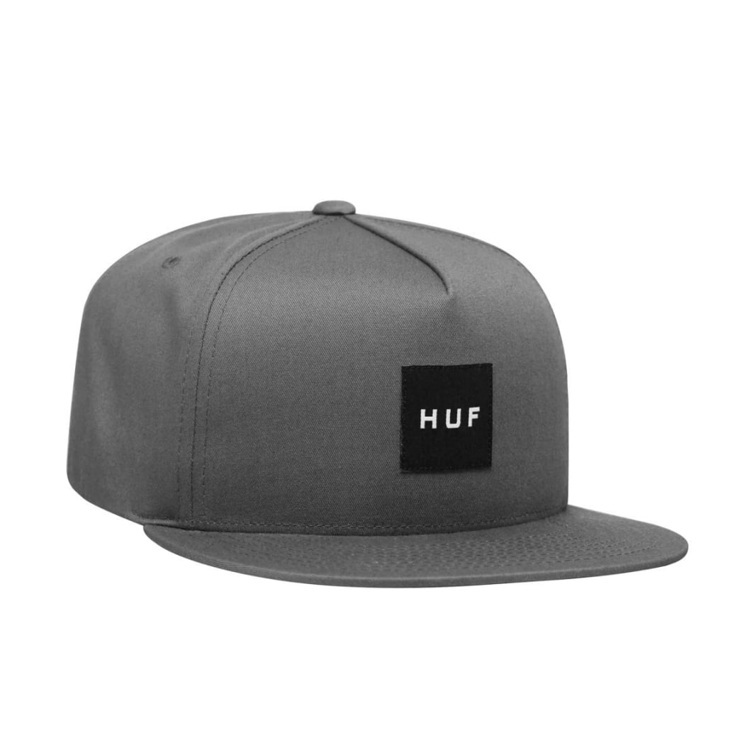 db77b3d164ee80 Essentials Box Snapback Cap | Charcoal | Cap by HUF 1