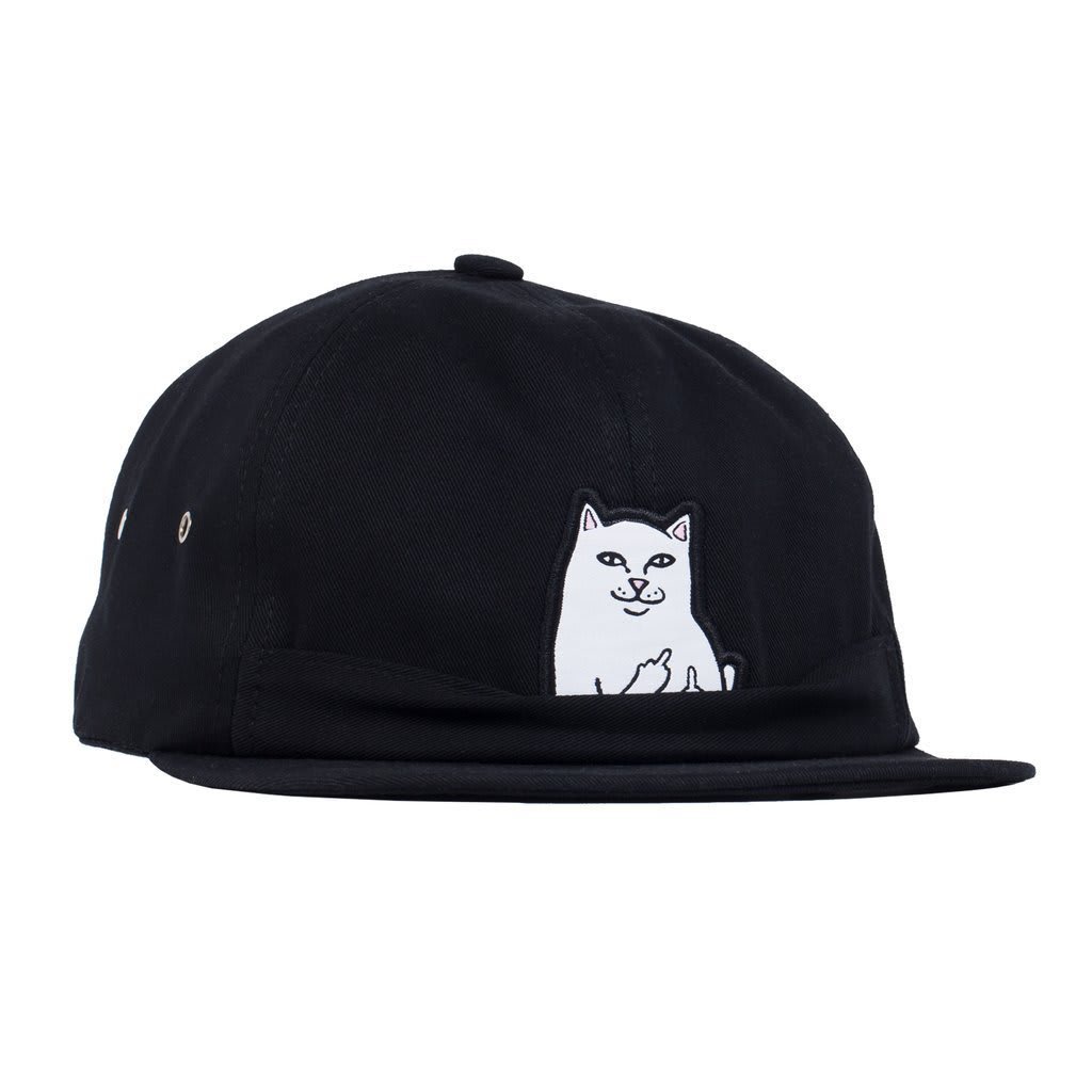 Rip N Dip Lord Nermal 6 Panel Pocket Hat - Black | Panel Hat by Ripndip 2