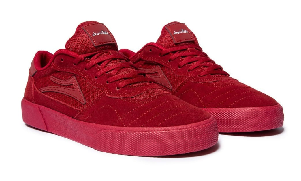 Lakai x Chocolate Cambridge Suede Skate Shoes - Reflective Red | Shoes by Lakai 4