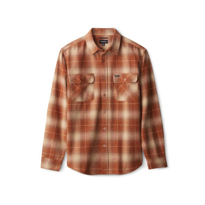 BRIXTON BOWERY L/S FLANNEL - COPPER | Shirt by Brixton 1