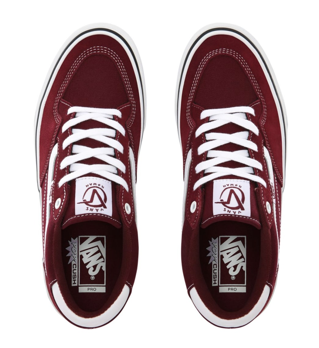 Vans Rowan Pro Skate Shoes - Port / White | Shoes by Vans 3