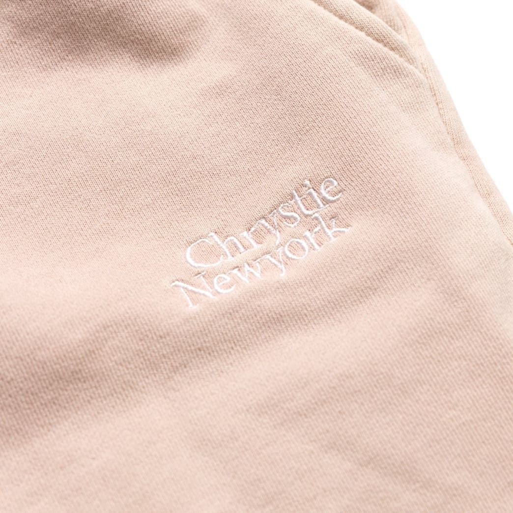Chrystie NYC Garment Dye Classic Logo French Terry Sweat Shorts - Pale Pink   Shorts by Chrystie NYC 3