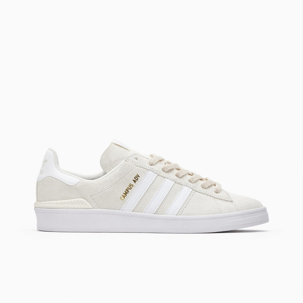 Adidas Campus ADV Skateboarding Shoes - Supplier Colour / FTWR White / Gold Met | Shoes by adidas Skateboarding 1
