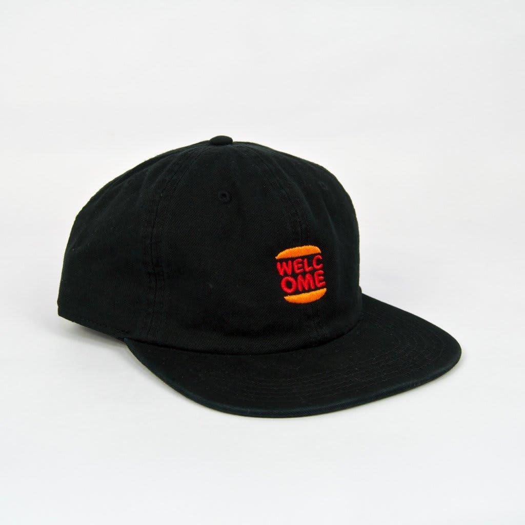 Welcome Skate Store - Burger Cap - Black | Baseball Cap by Welcome Skate Store 1