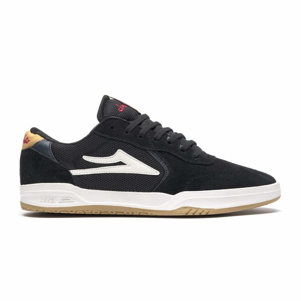 Lakai x Chocolate Skateboards Atlantic Suede Skate Shoes - Black / Yellow | Shoes by Lakai 1