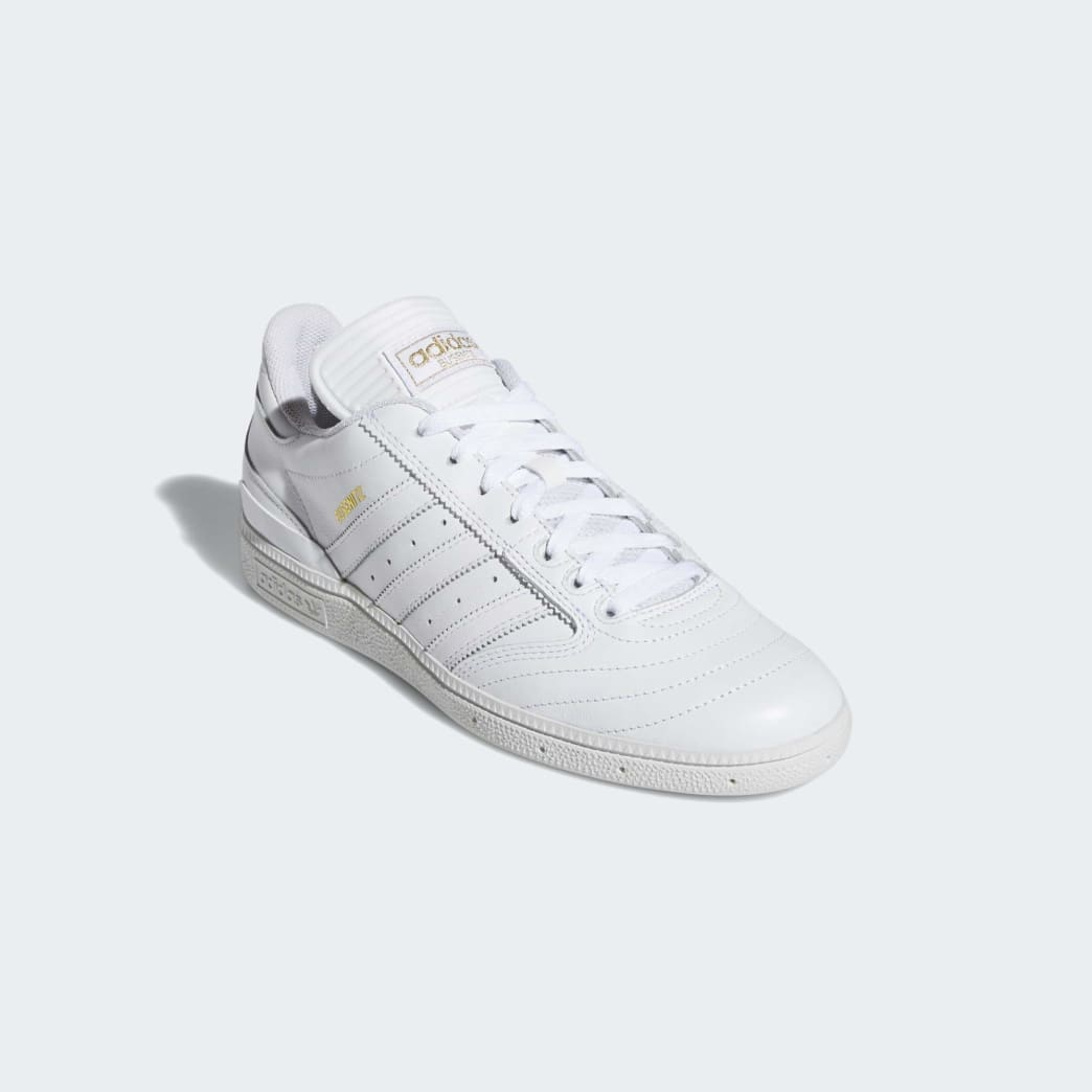 Adidas Busenitz Shoes - Cloud White/Gold Metallic/Cloud White | Shoes by adidas Skateboarding 4