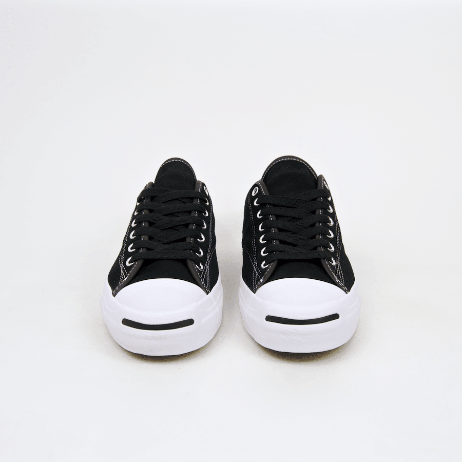Converse Cons - Jack Purcell Pro OX (Suede) Shoes - Black / Black / White | Shoes by Converse Cons 4