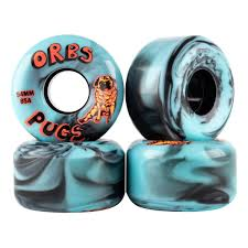 Orbs Pugs Swirl Black/Blue 54mm 85D | Wheels by Orbs Wheels 1