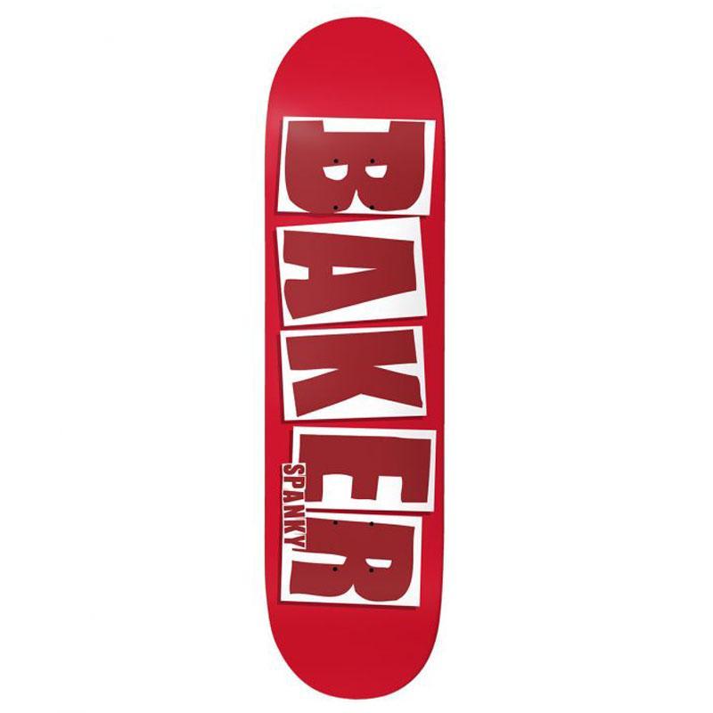 Baker Skateboards Spanky Brand Name Red Skateboard Deck - 8.25 | Deck by Baker Skateboards 1