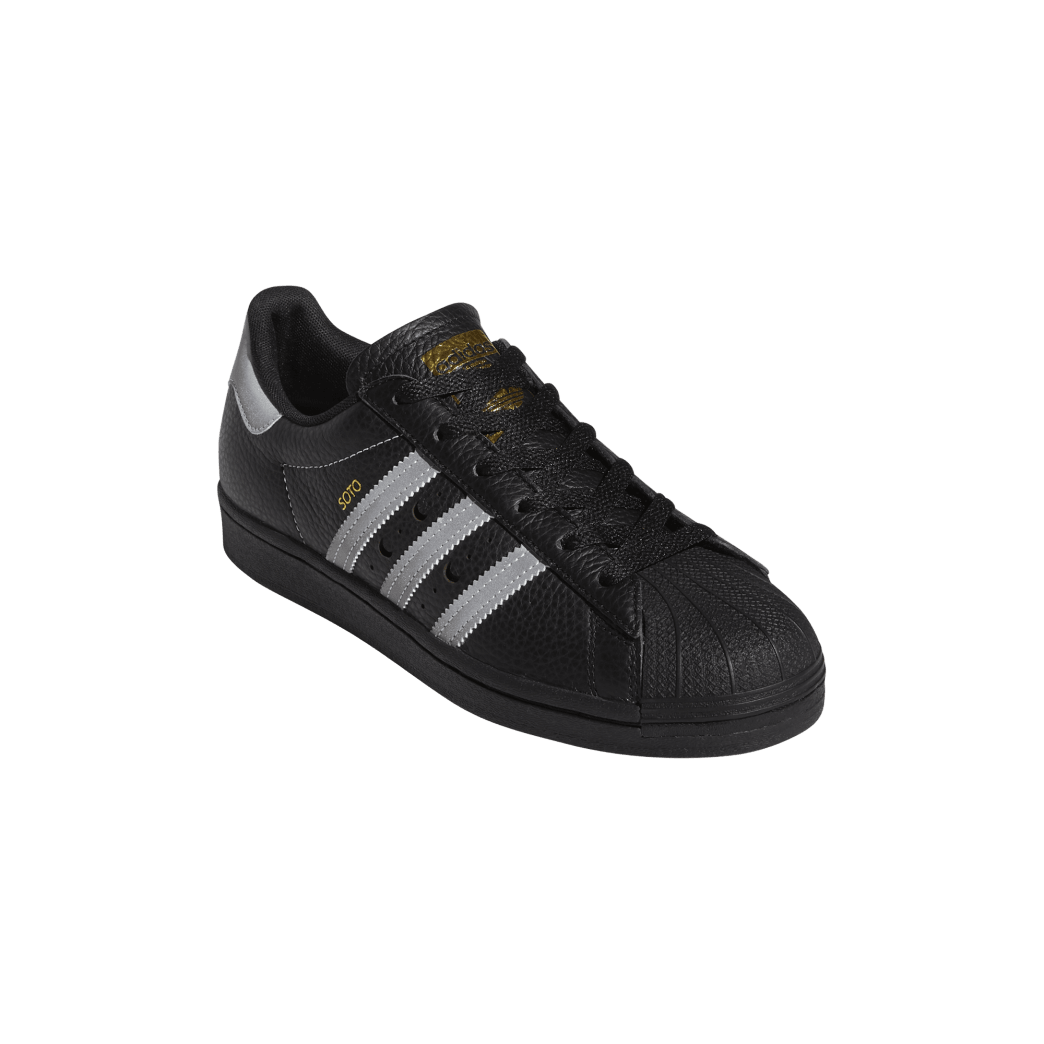 adidas Superstar ADV x Soto Skate Shoe - Core Black / Silver Met / Gold Met | Shoes by adidas Skateboarding 5