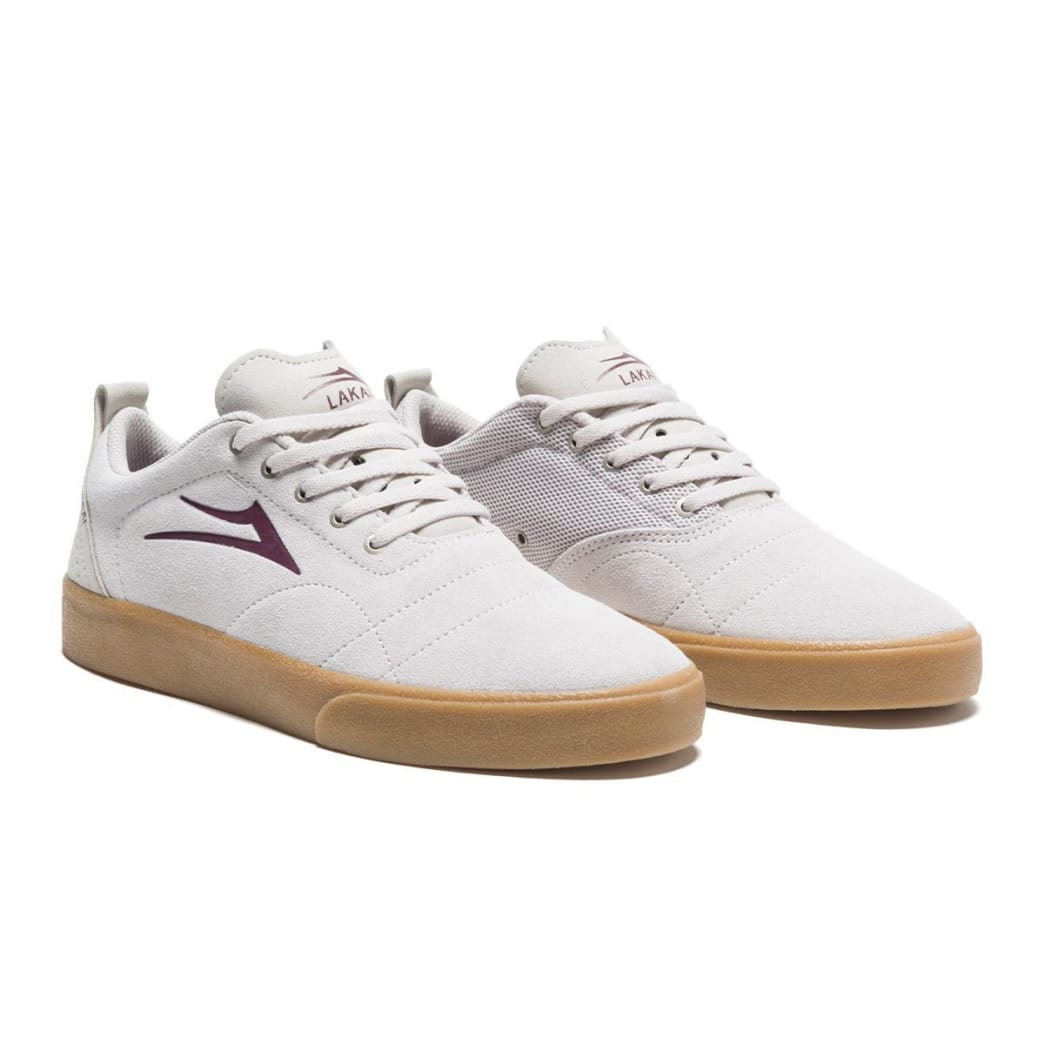 Lakai Bristol Suede Skate Shoes - White / Gum | Shoes by Lakai 3