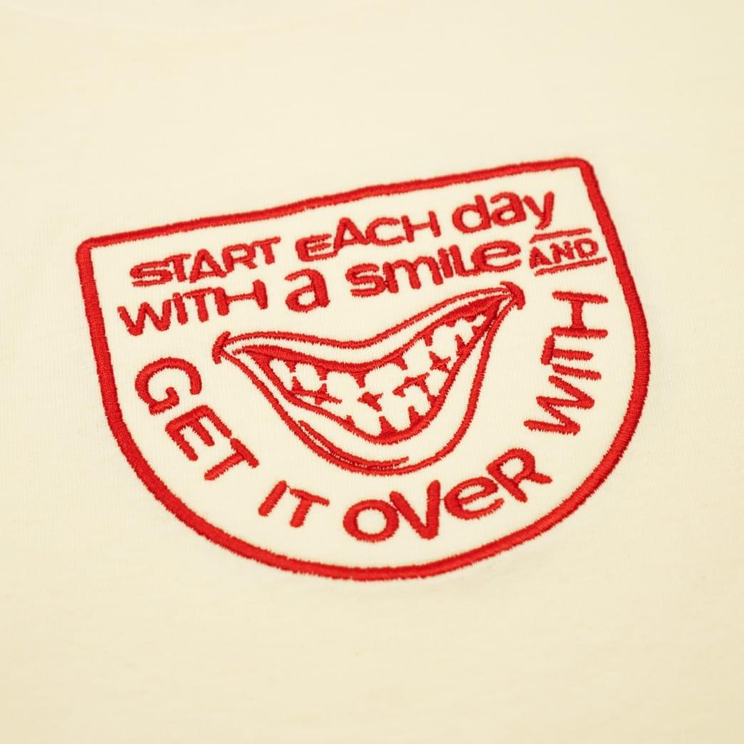 The National Skateboard Co Smile T-Shirt - Cream | T-Shirt by The National Skateboard Co. 2