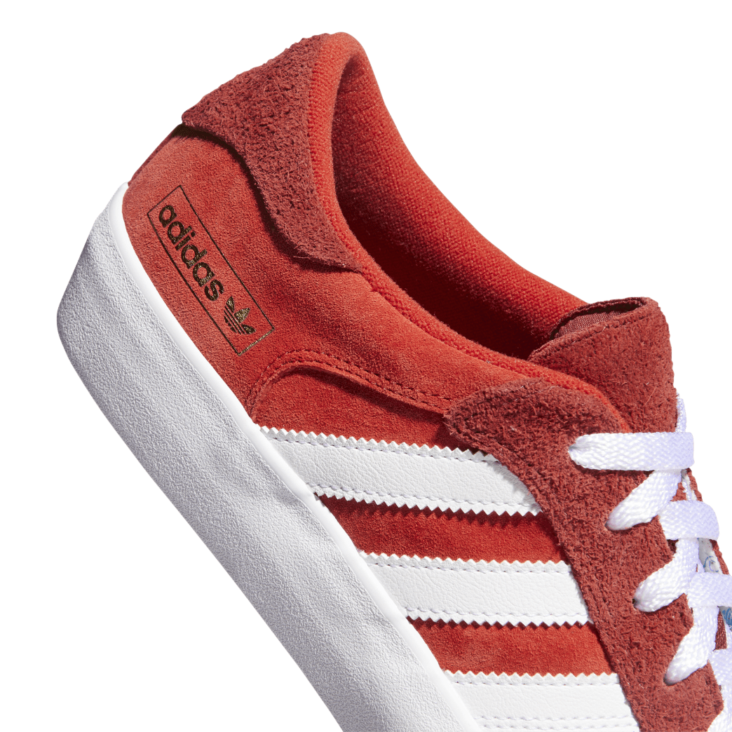 Adidas Matchbreak Super Skateboarding Shoes - Brick / Cloud White / Gold Metallic | Shoes by adidas Skateboarding 8