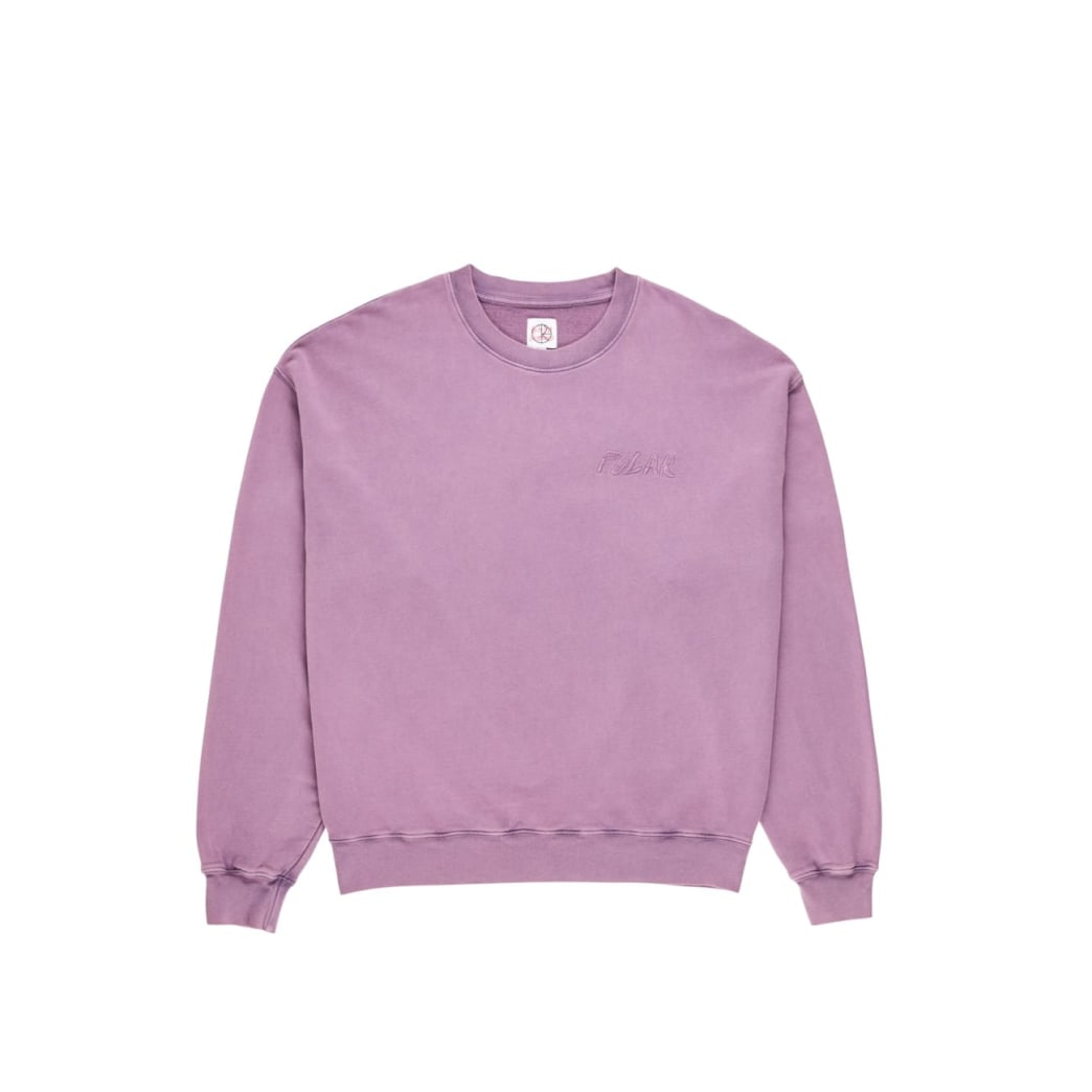 Polar Skate Co Garment Dye Crewneck - Purple | Sweatshirt by Polar Skate Co 1